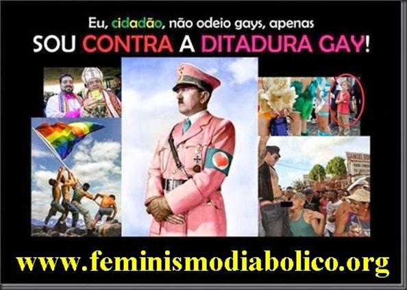 DITADURA GAY BANNER DO SITE FEMINISMO DIABOLICO