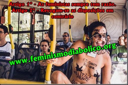 Feministas sempre tem razão