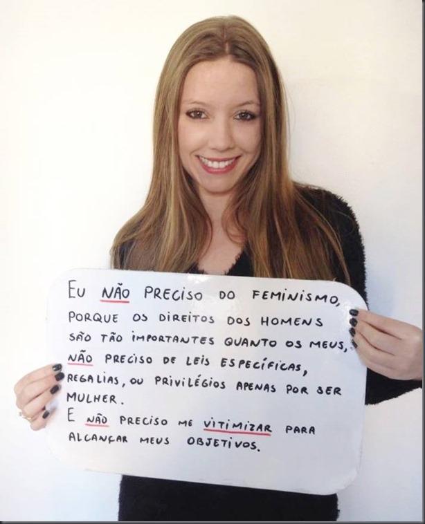 moça linda contra o feminismo