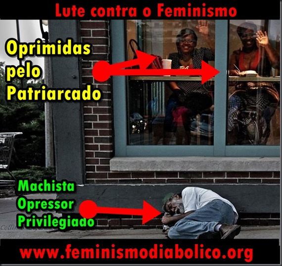 Oprimida versus privilegiado banner