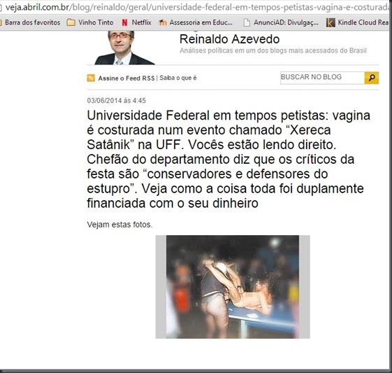 Reinaldo Azevedo sobre Xereca Satanik