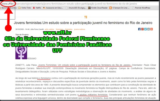 Site da Universidade Federal Fluminense